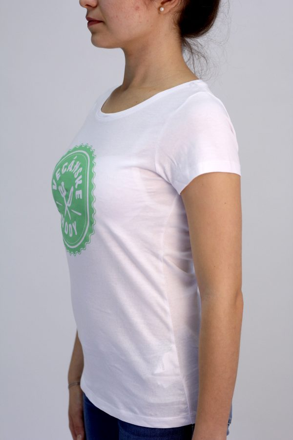 Tričko Vegánske hody pamätnícke biele dámske