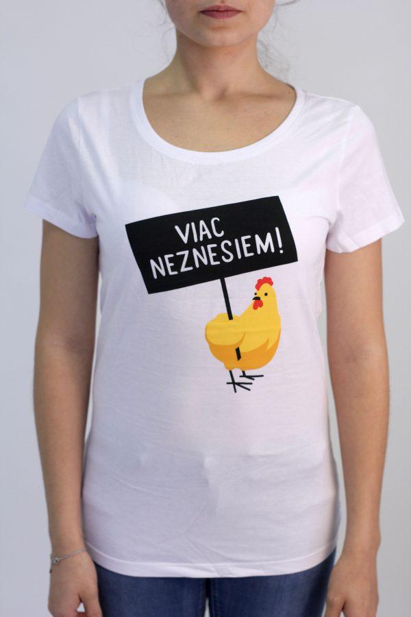 Dámske tričko - Viac neznesiem! - biele