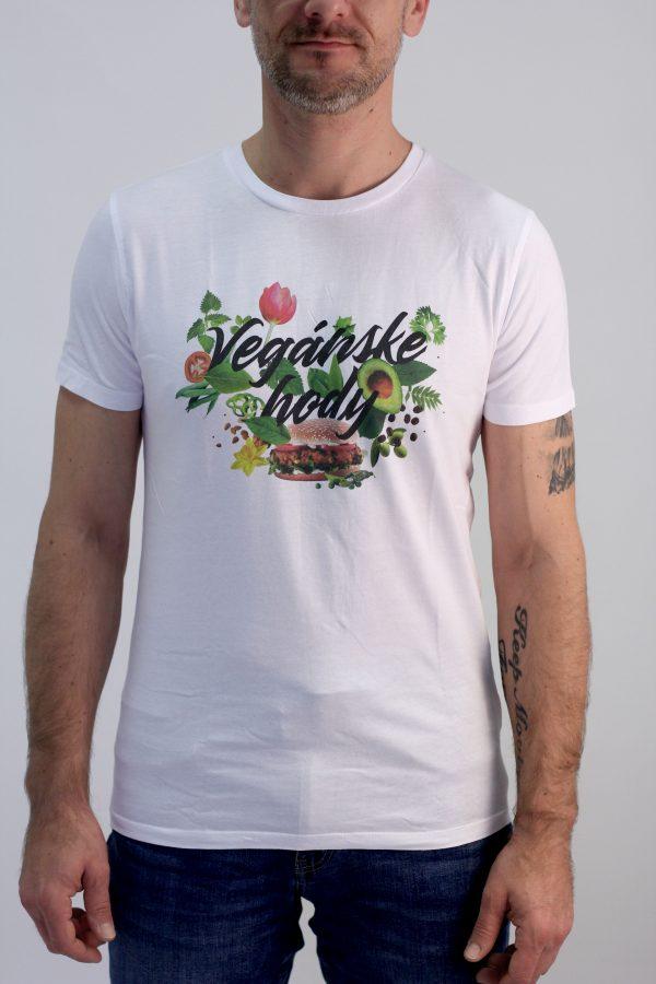 Pánske tričko - Vegánske hody biele