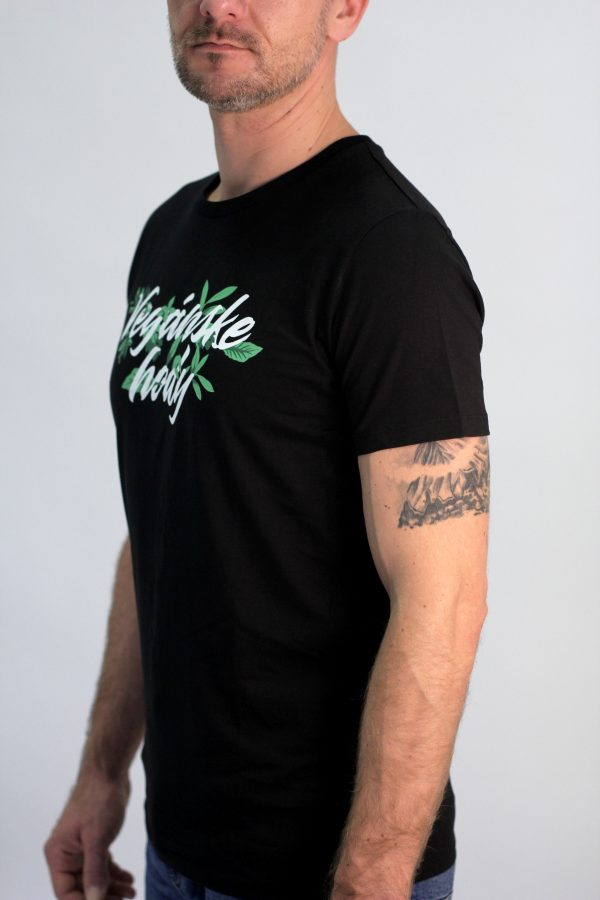 Pánske tričko - Vegánske hody čierne