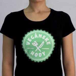 Dámske tričko - Vegánske hody pamätnícke čierne