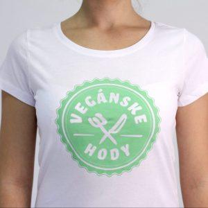 Dámske tričko - Vegánske hody pamätnícke biele