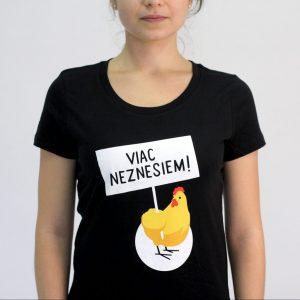 Dámske tričko - Viac neznesiem! - čierne